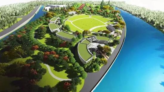 临空园区公园绿地规划图