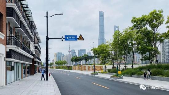 黄浦滨江这处慢行景观空间开放 绿化景观层次更加丰富