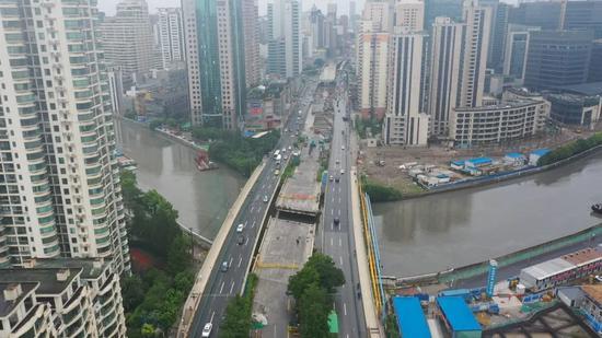 长寿路中幅桥改造工程启动实施 预计明年6月通车
