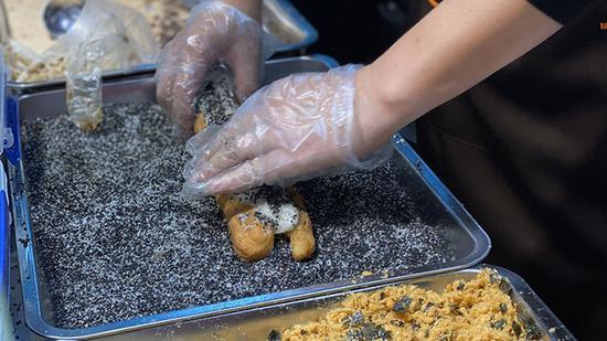 油条包麻薯摊位
