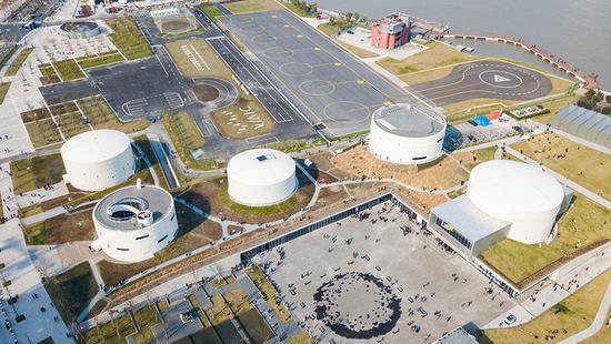 上海文化地标建筑兴起 油罐艺术中心已正式开放