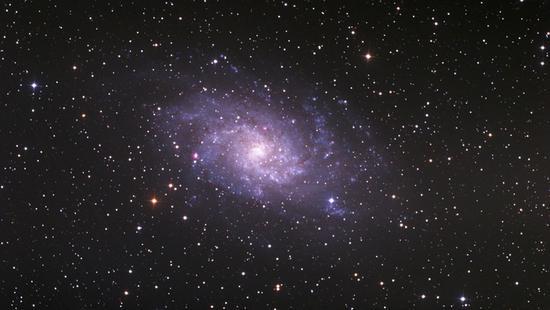 M33三角座漩涡星系。徐卫斌拍摄