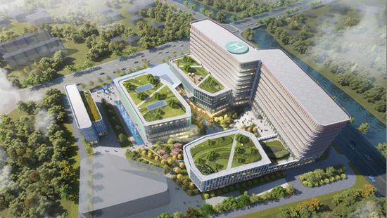 国家儿童医学中心张江院区俯视图