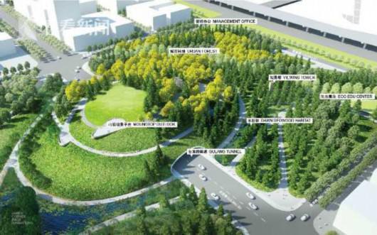 市中心第二高山初见雏形 桃浦中央绿地北三块6月建成
