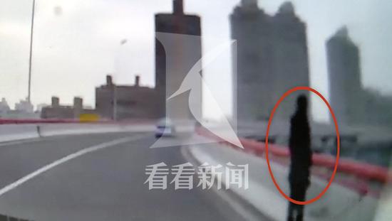 女子神情恍惚独站南浦大桥引桥边 过路的哥熊抱救下