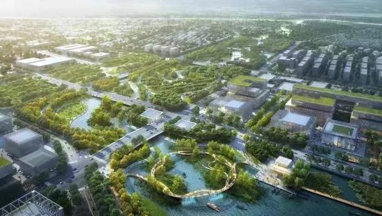 前湾公园效果图 本文图片均为闵行区提供