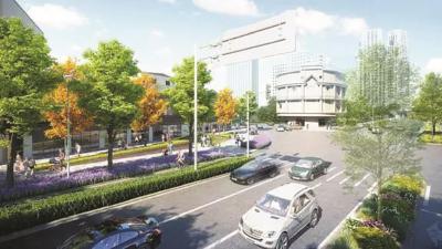 北横通道设计示意图。(市规划资源局供图)