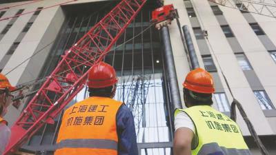 国家会展中心(上海)不停展施工。(上海建工机施集团供图)