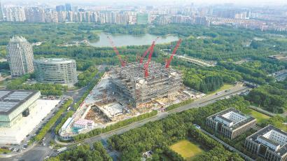 上海图书馆东馆即将结构封顶 将与周边组成文化集聚区