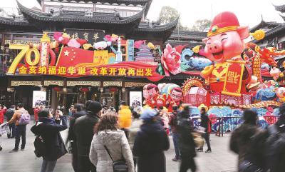 豫园新春灯会主灯安装完毕 本月下旬将正式亮灯迎客