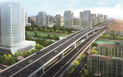 济阳路快速路主线高架施工启动 2020年桥梁构造贯通