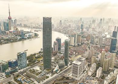 视频:浦西第一高楼将完整亮相 10万㎡购物中心将开业