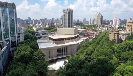 上音歌剧院将成为淮海路文化新地标(蒋迪雯 摄)