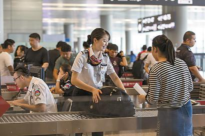 """虹桥机场""""吴娜通道""""安检服务"""
