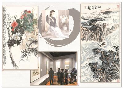 上海市美术家协会藏品展亮相 呈现微型海派美术史
