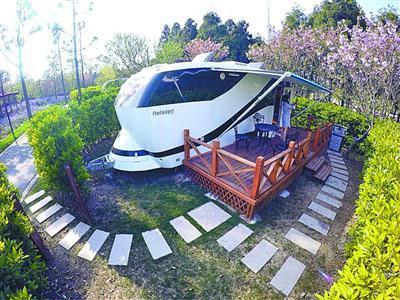 崇明东平森林公园房车营地。 (资料)