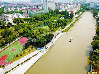 嘉定环城河步道内圈贯通开放 沿河可赏申城清明上河图