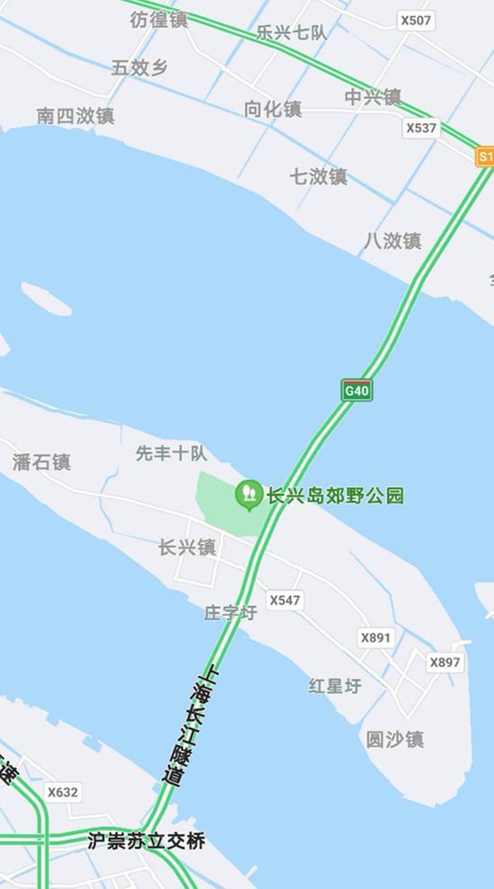 上海长江隧桥在中秋国庆长假期间总体畅通。图片来源:崇明公安