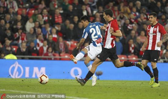 图说:武磊在比赛中 图Osports