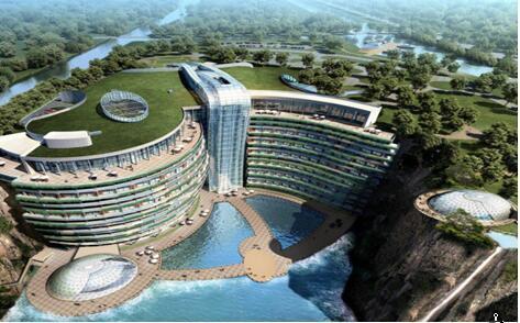 佘山深坑酒店成上海新地标 打造全球人工海拔最低酒店