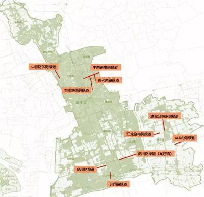 2018年新增的20公里城市绿道分布图