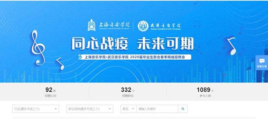 图说:上海音乐学院与武汉音乐学院曾举行联合春季招聘会 官方图