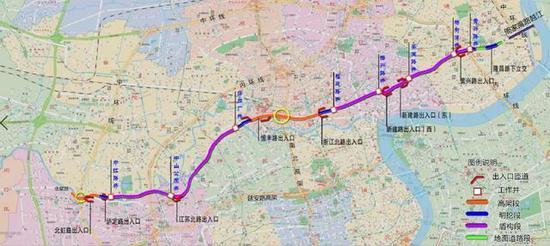 北横通道规划图