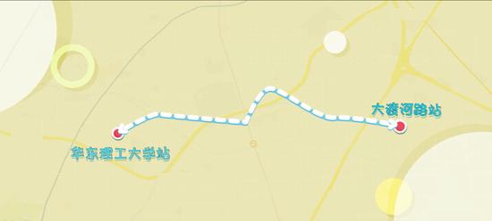 轨交15号线华东理工大学至大渡河路站热滑试验完成