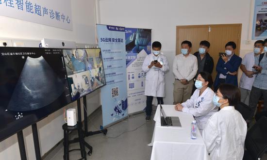 宝山区仁和医院试点5G远程超声:家门口接受专家B超诊断