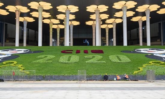 进博会倒计时20天:场馆搭建、绿化装饰正有序推进