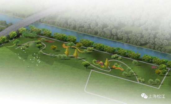 松江又将新增一处滨水绿地 面积超10000平方米