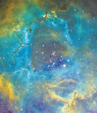 徐卫斌拍到的麒麟座玫瑰星云中心。(资料)