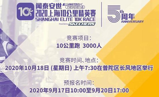 上海10公里精英赛18日开跑 部分路段将受临时交通管制
