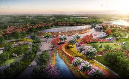 中国花博会2021年在崇明举行 一大波效果图来袭