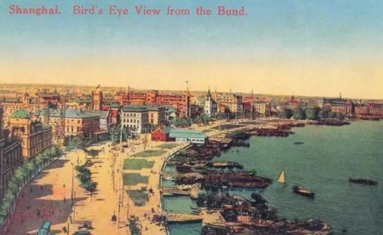 20世纪20年代的外滩江边