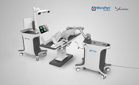 首台国产骨科手术机器人登场 在沪完成全膝关节置换术