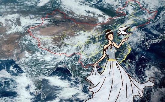 今年第3号台风森拉克在南海生成 以25km/h向西偏北移动