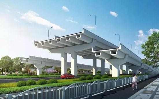 两港大道快速化先行启动工程开工
