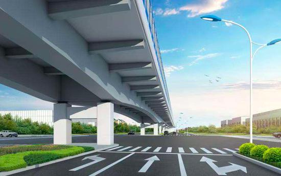 沪南公路改建加紧推进 未来全线将达双向6车道