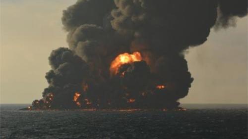 图说:爆燃现场。来源:交通运输部微信公众号