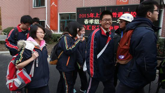 上海23所高校开启春考校测 14日将公布成绩