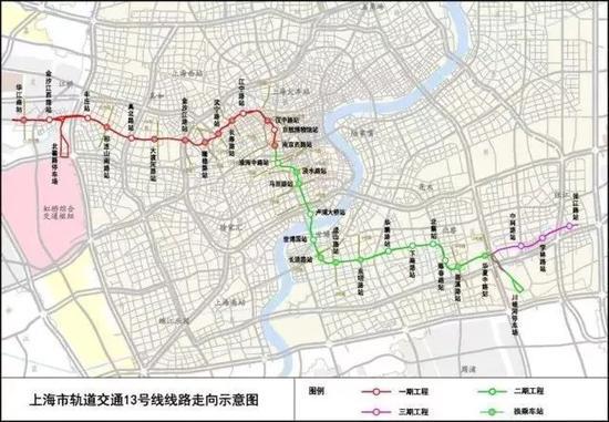 ▲ 13号线线路图