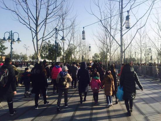 上海迪士尼乐园人流堪比世博会