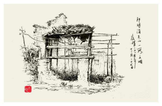 著名画家,哲学家底谓钢笔画艺术交流展在沪举行