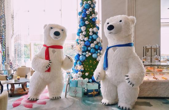 静安香格里拉圣诞北极熊 Jing An Shangri-La Christmas Polar Bears