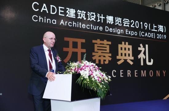中联慕尼(北京)国际会展有限公司董事会主席Dr. Reinhard Pfeiffer对BAU China的未来充满期待