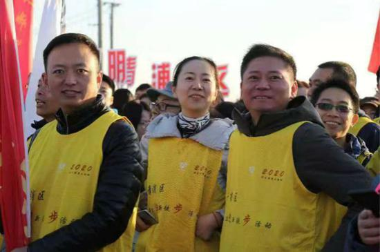 """图说:新年首日公园迎来2020名""""打卡者""""。青浦区新闻办供图"""