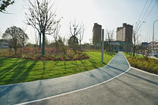 松江本年将新增5座街心花圃 九里亭路街心花圃现已开放