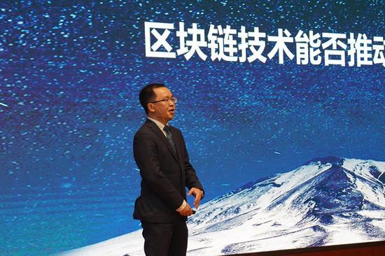 """农行上海浦东分行陈涛介绍""""跨境e链""""产品"""