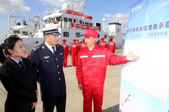 上海电信携手上海、江苏海上执法部门开展海上护缆专项行动
